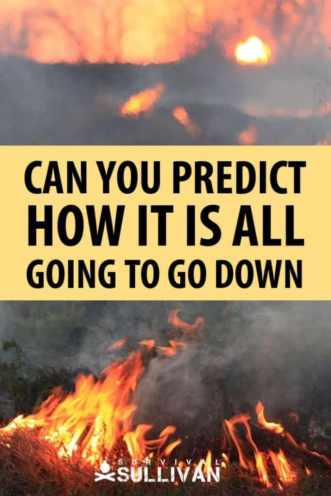 how to predict SHTF Pinterest image