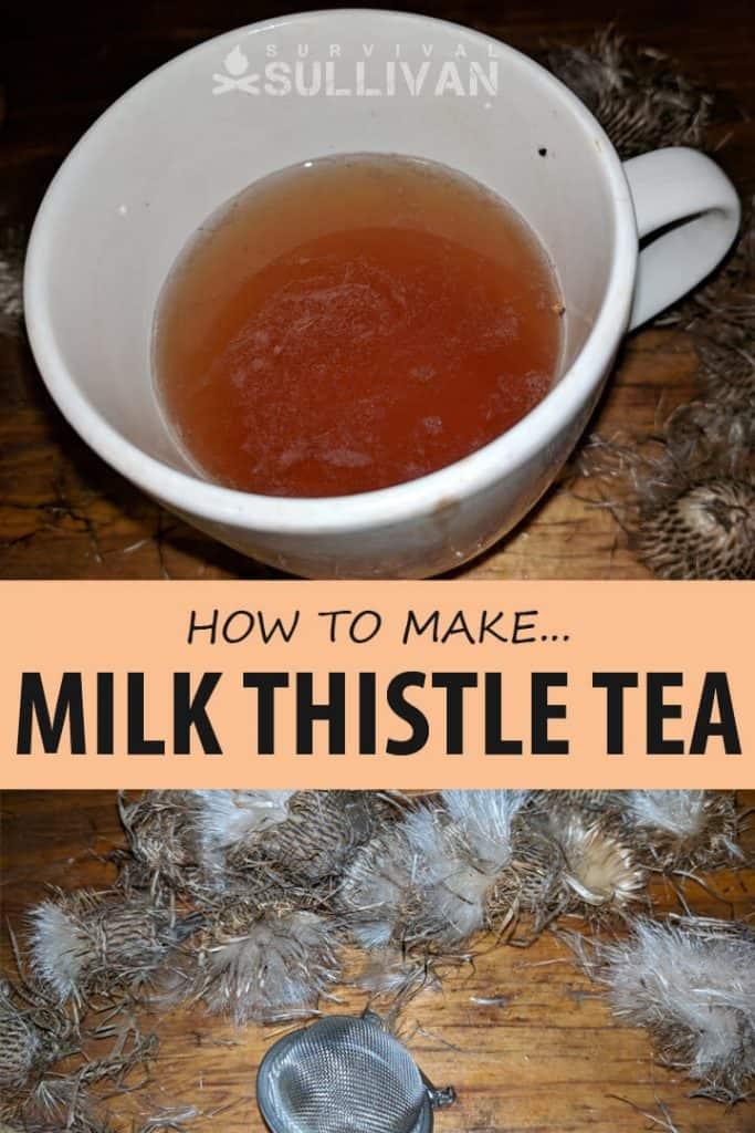milk thistle tea Pinterest image