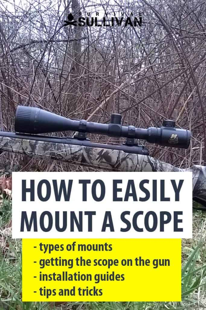 mounting a scope Pinterest image