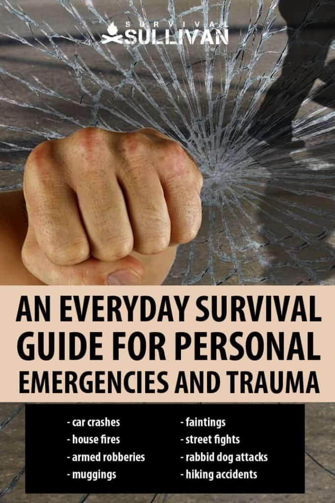 personal emergencies survival Pinterest image