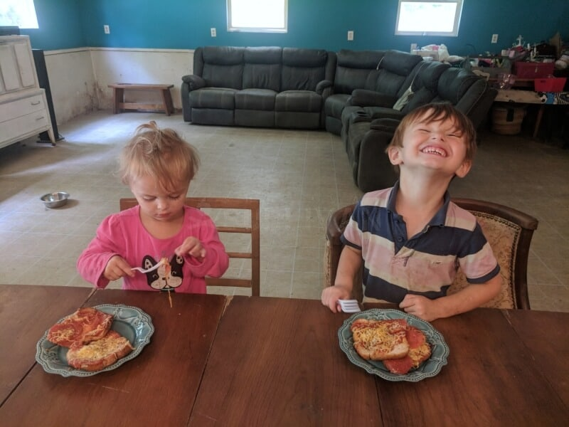 toddlers eating the lunch they helped make update