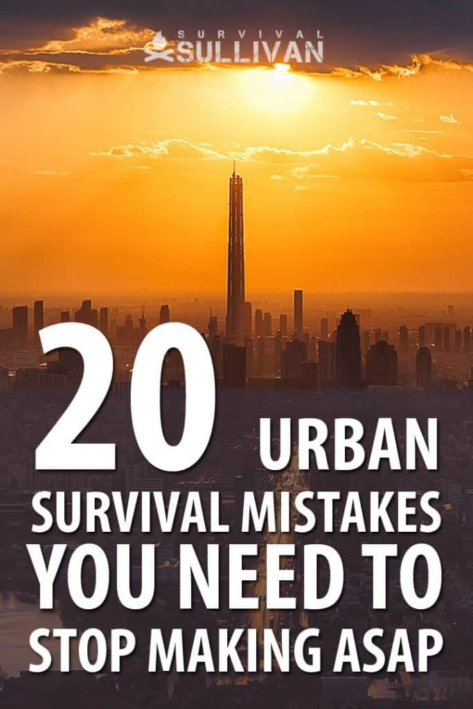 urban survival mistakes Pinterest image