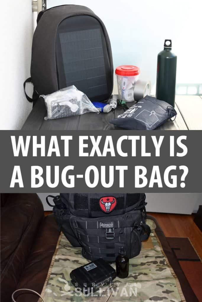 bug out bag Pinterest image