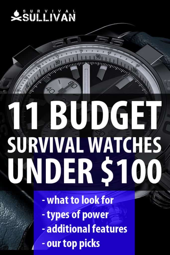 best survival watches Pinterest image