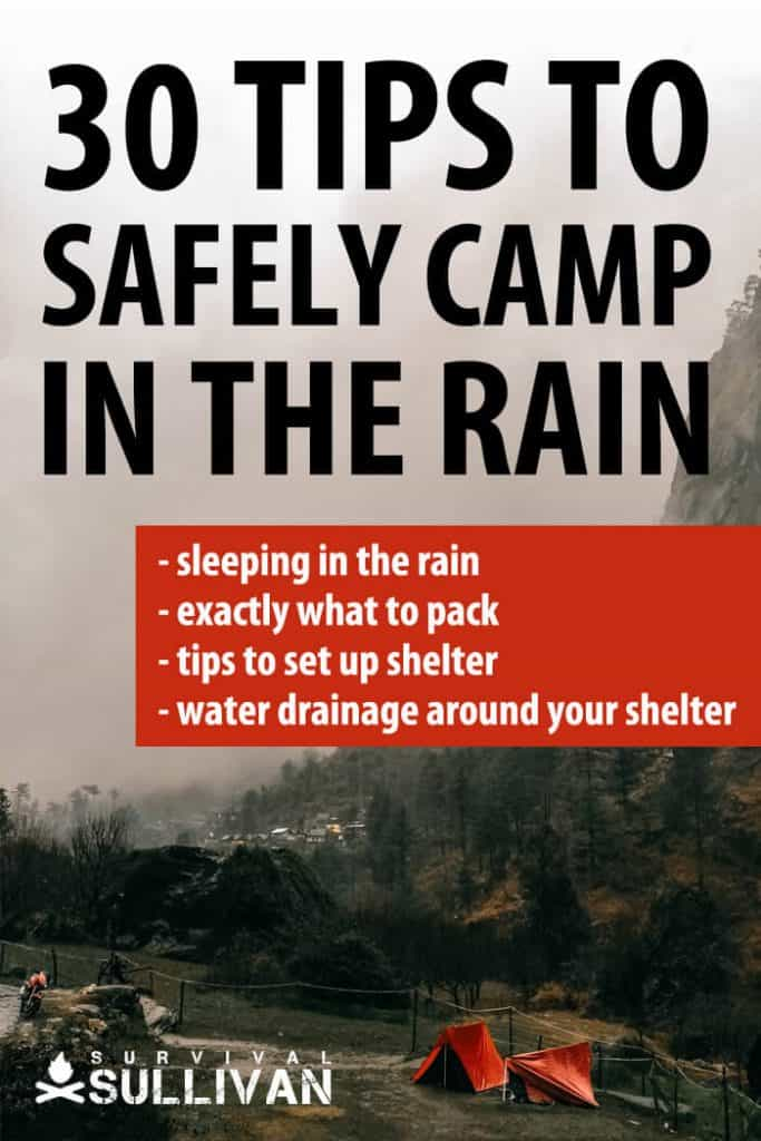 camping in the rain pinterest