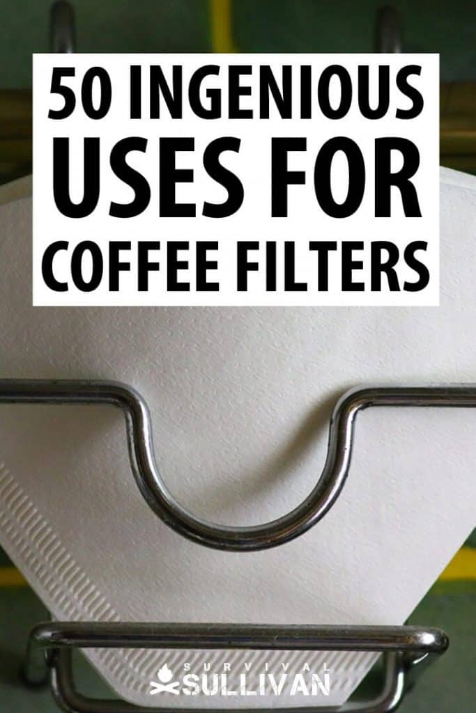 coffee filter uses Pinterest image