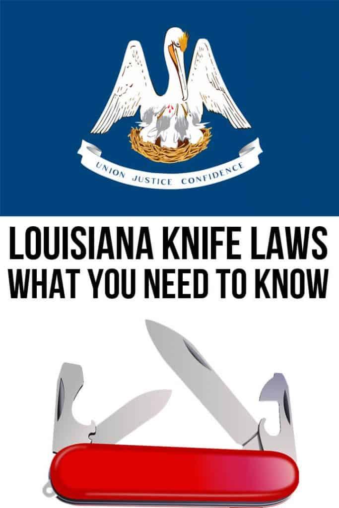 Louisiana knife laws Pinterest image