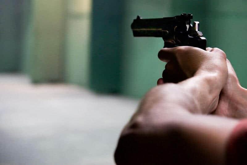 shooting a handgun