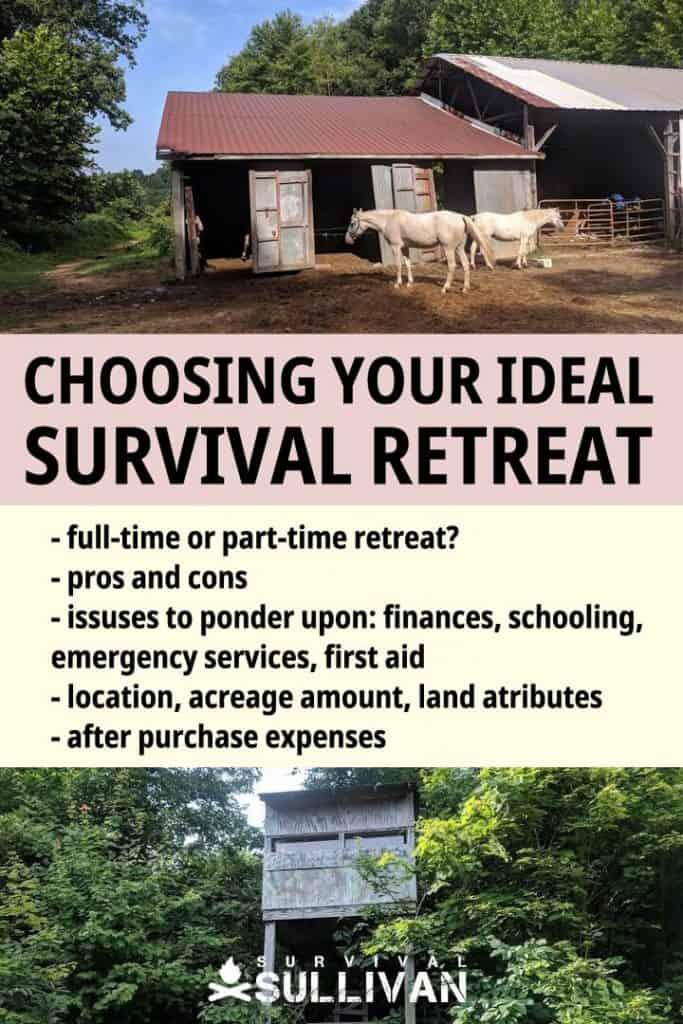survival retreat pinterest image