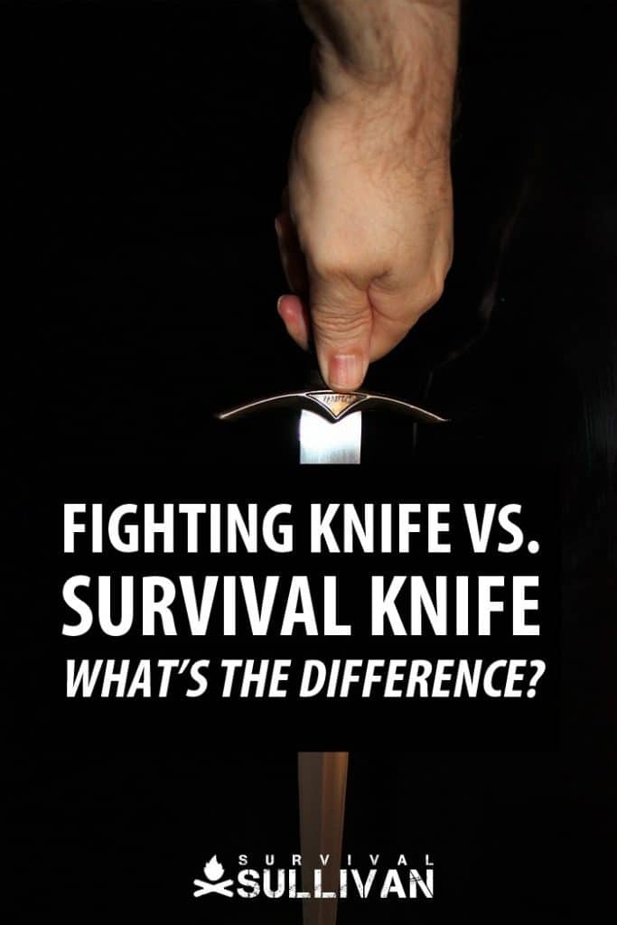 fighting knife vs survival knife Pinterest image