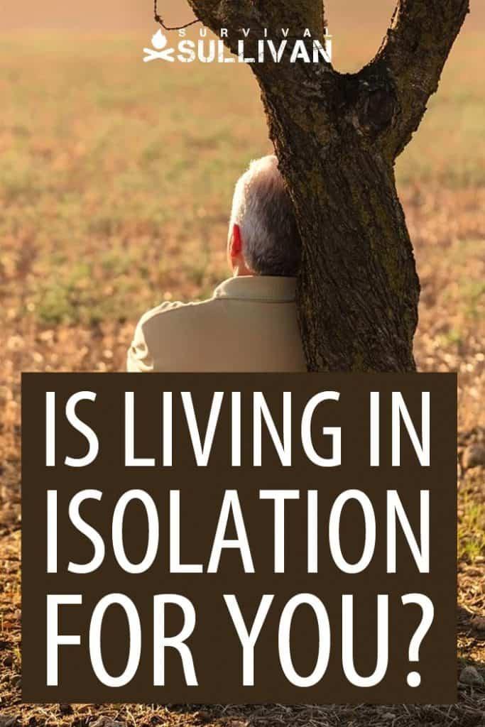 living in isolation Pinterest image