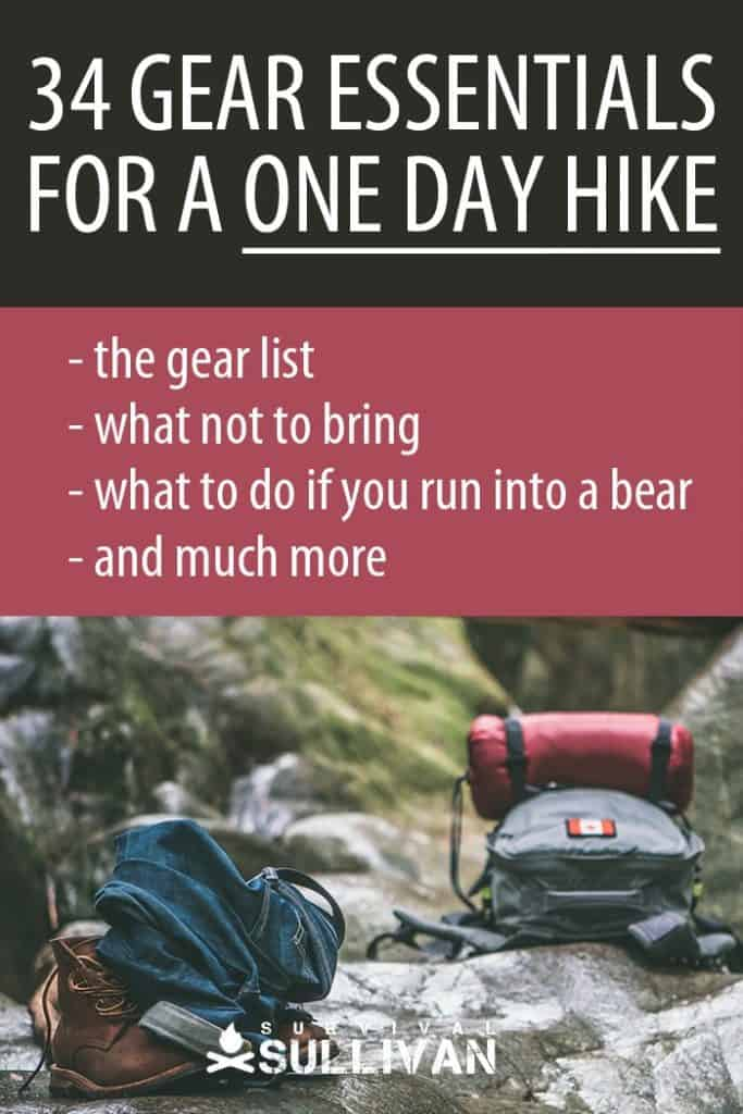 one day hike gear Pinterest image