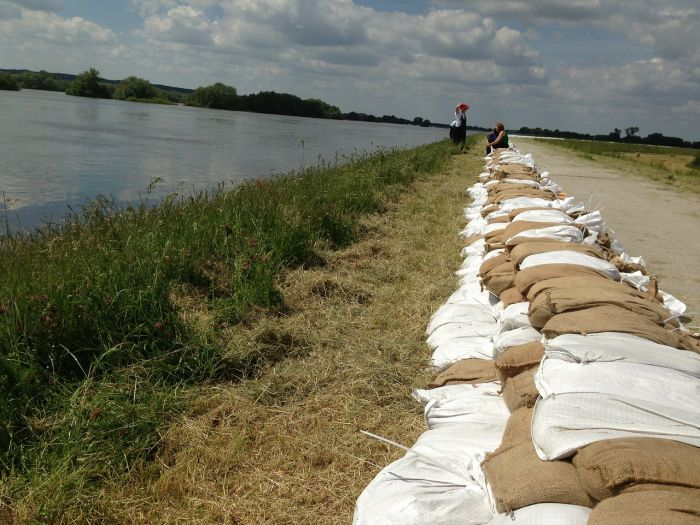 sandbag stopping flood