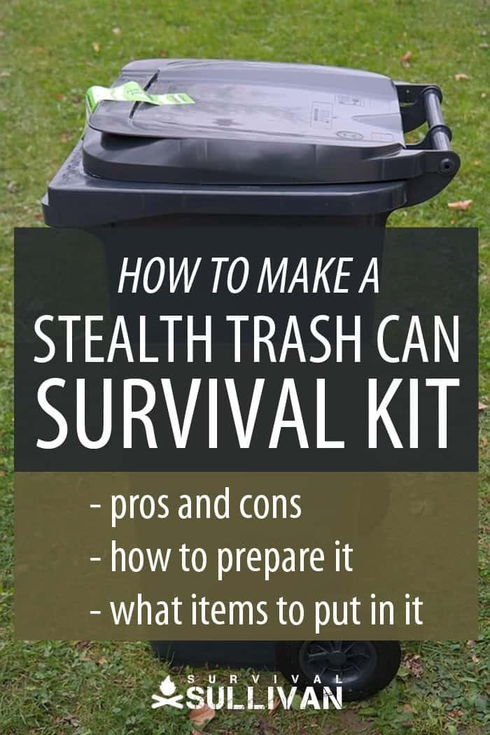 stealth trash cans Pinterest image