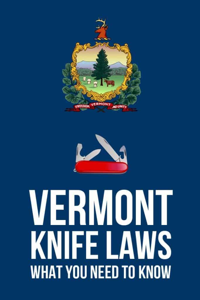 Vermont knife laws Pinterest image