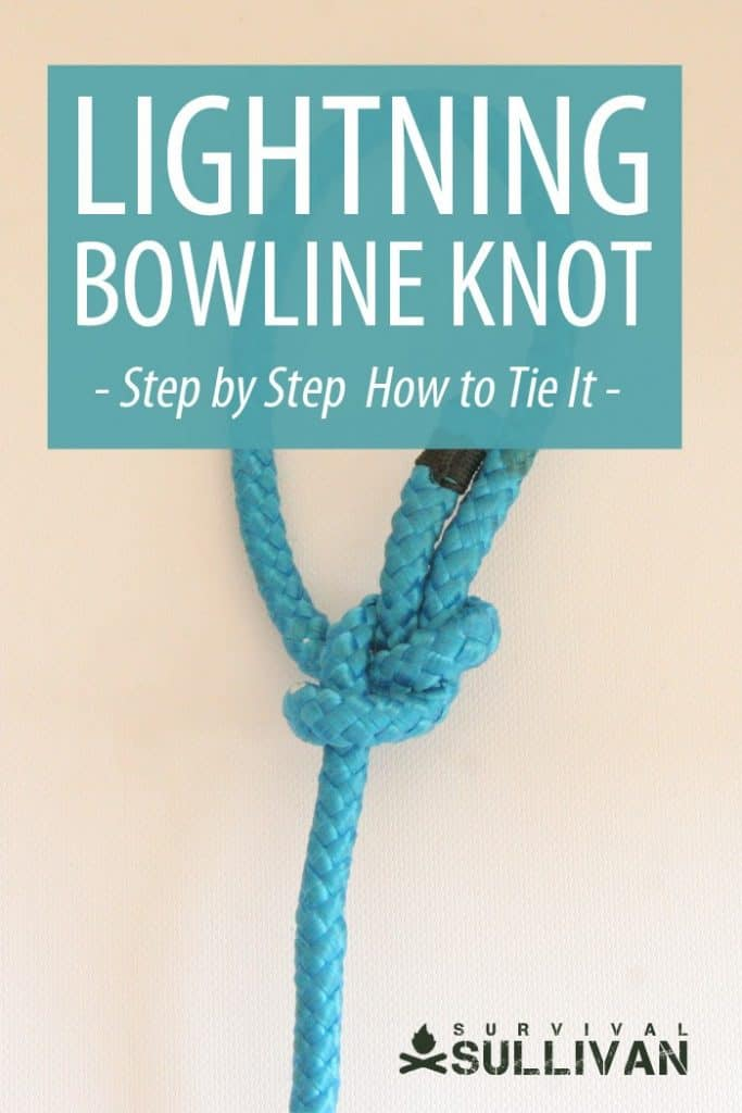 'Lightning Bowline Knot Pinterest image