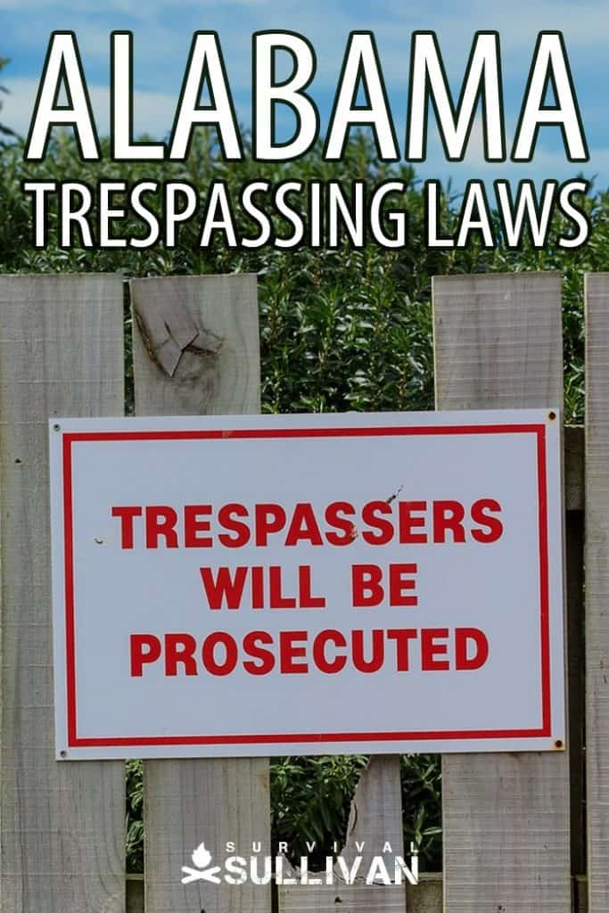 Alabama trespassing laws Pinterest image