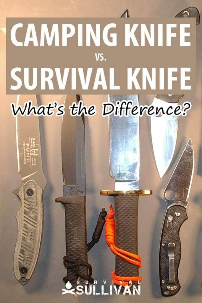 camping vs. survival knife pinterest