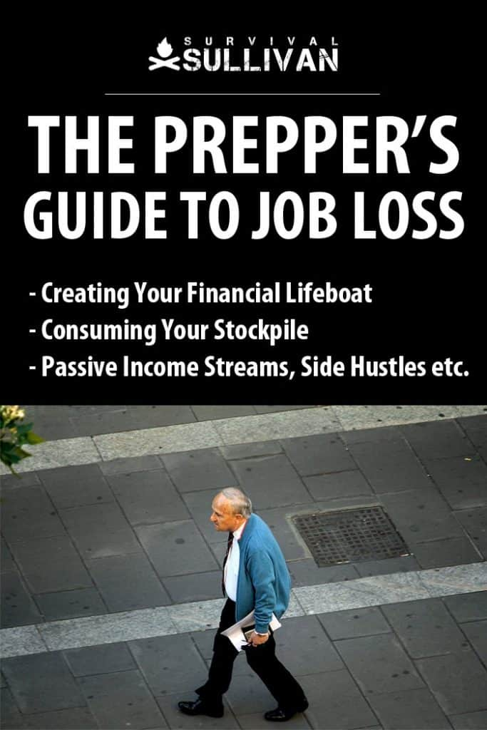 preppers job loss Pinterest image