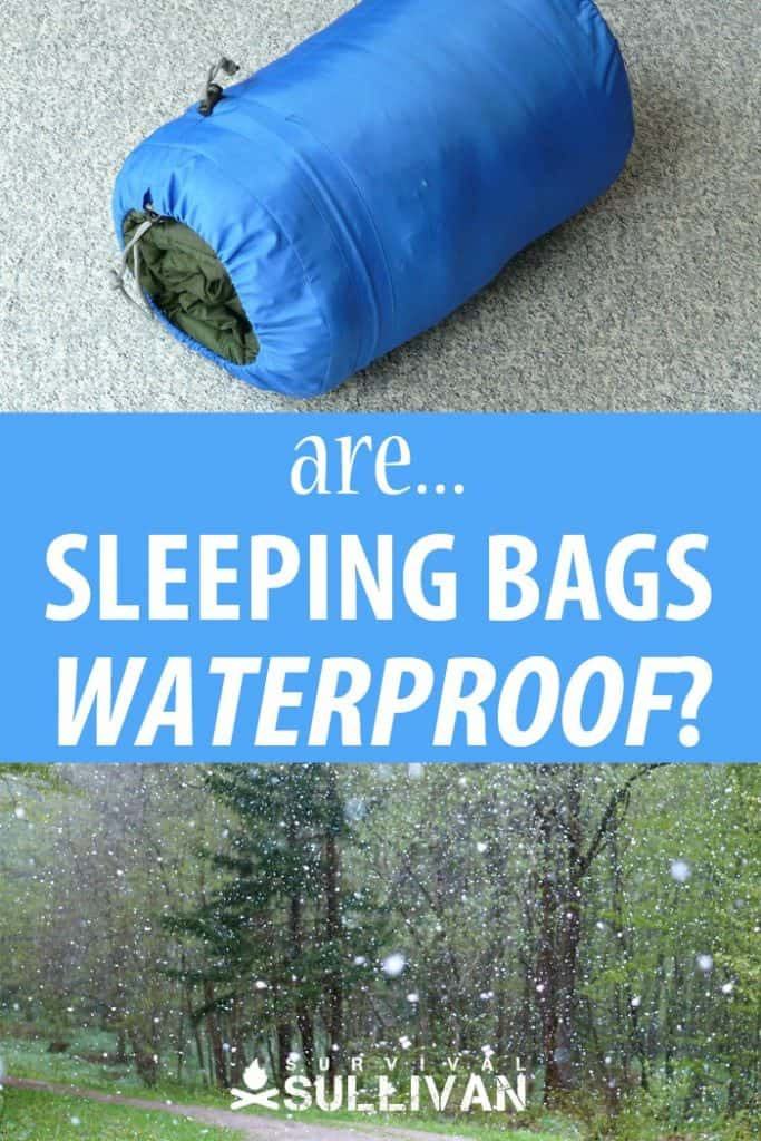 sleeping bags waterproof Pinterest image