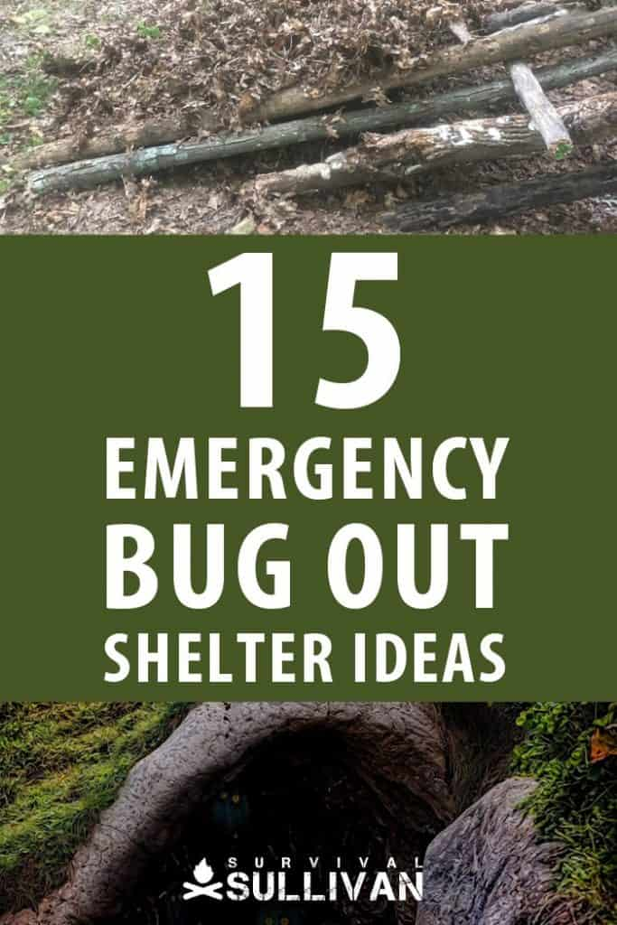 bug out shelters Pinterest image