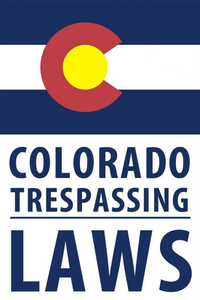 Colorado trespassing laws Pinterest image