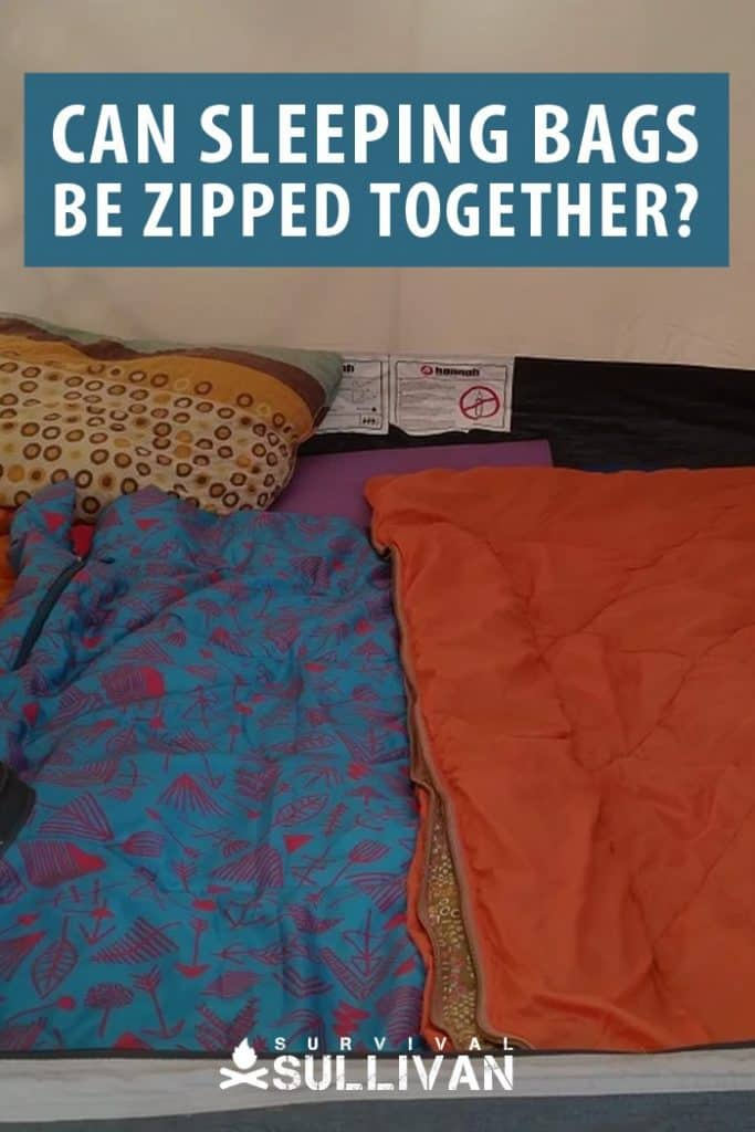 sleeping bags zipped together pinterest