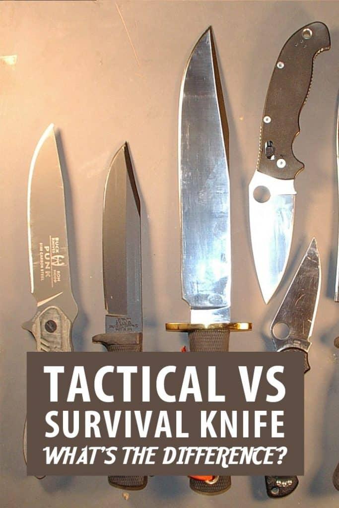 tactical vs. survival knives pinterest