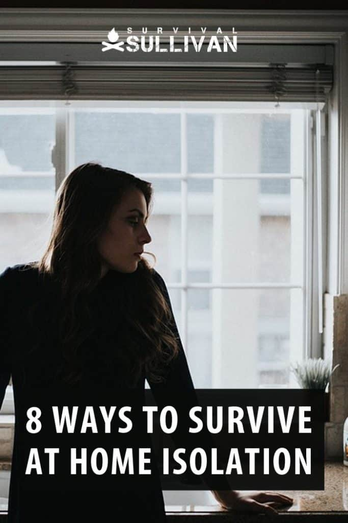 home isolation survival Pinterest image