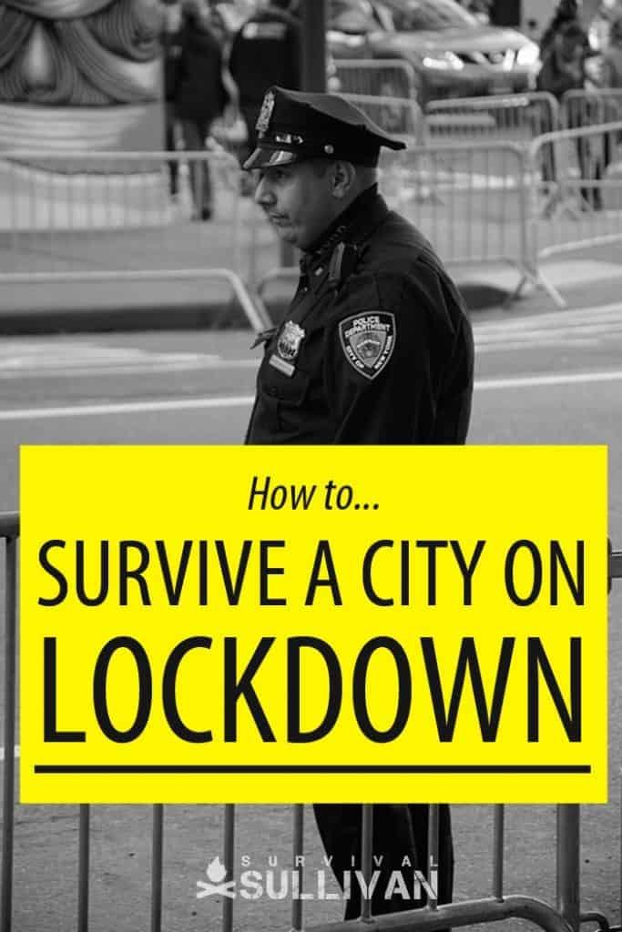survive city lockdown Pinterest