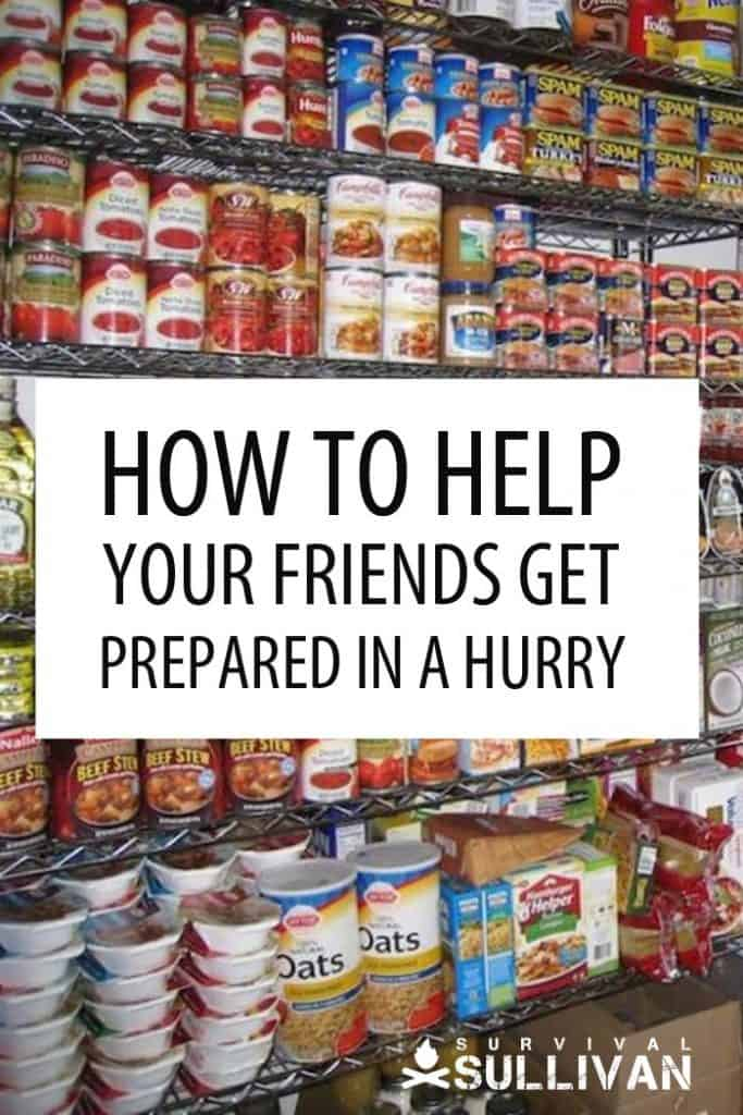 helping friends get prepped pinterest