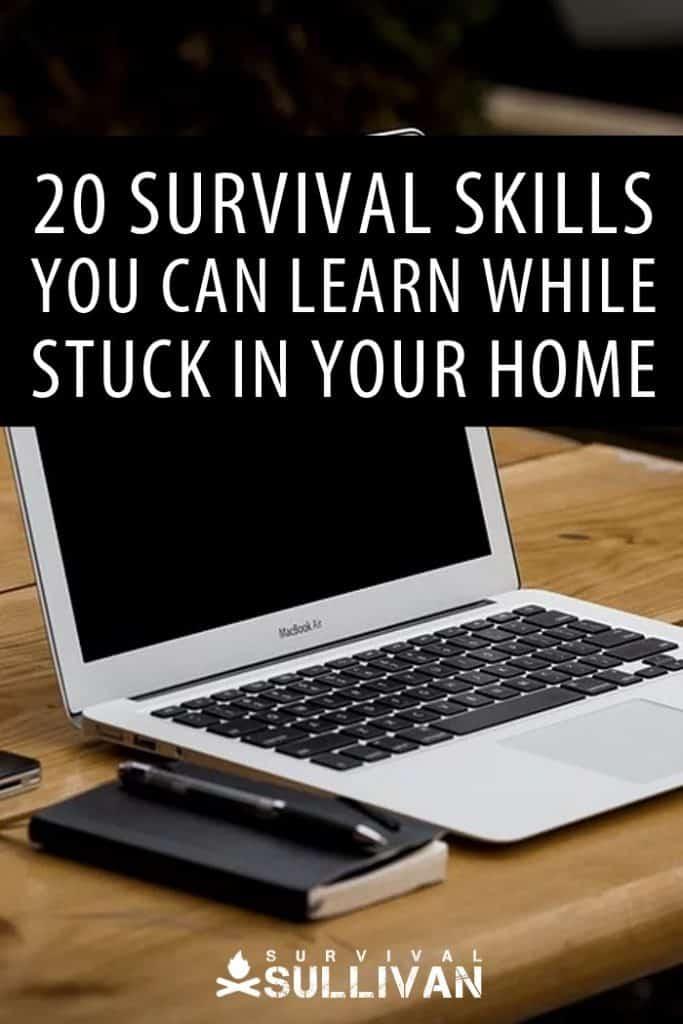 survival skills at home Pinterest image