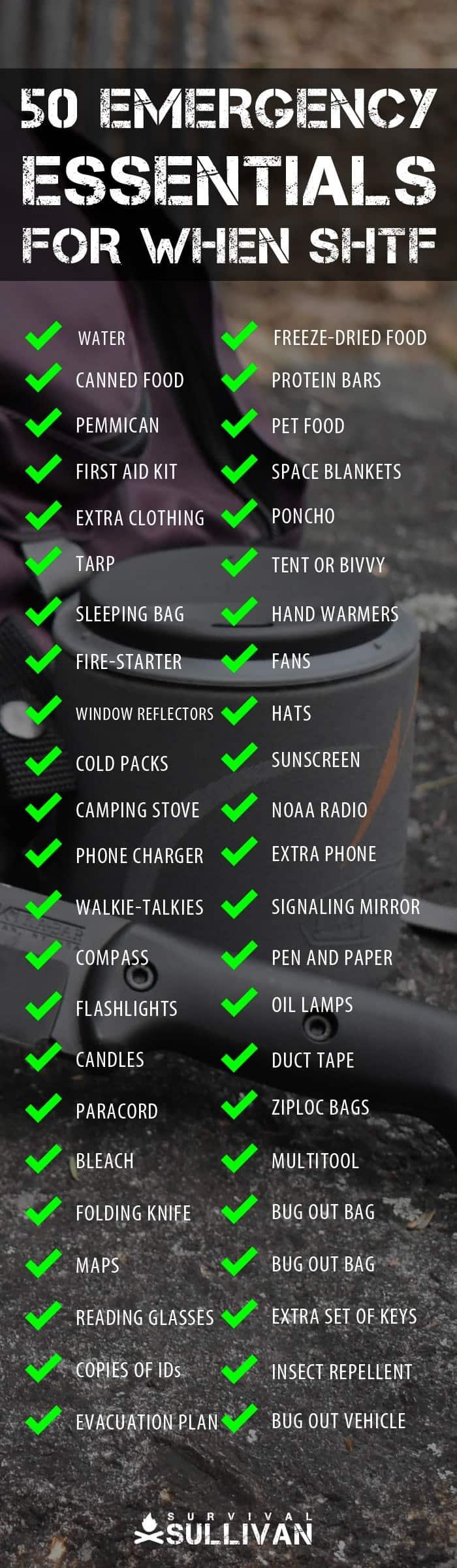 emergency essentials Pinterest image