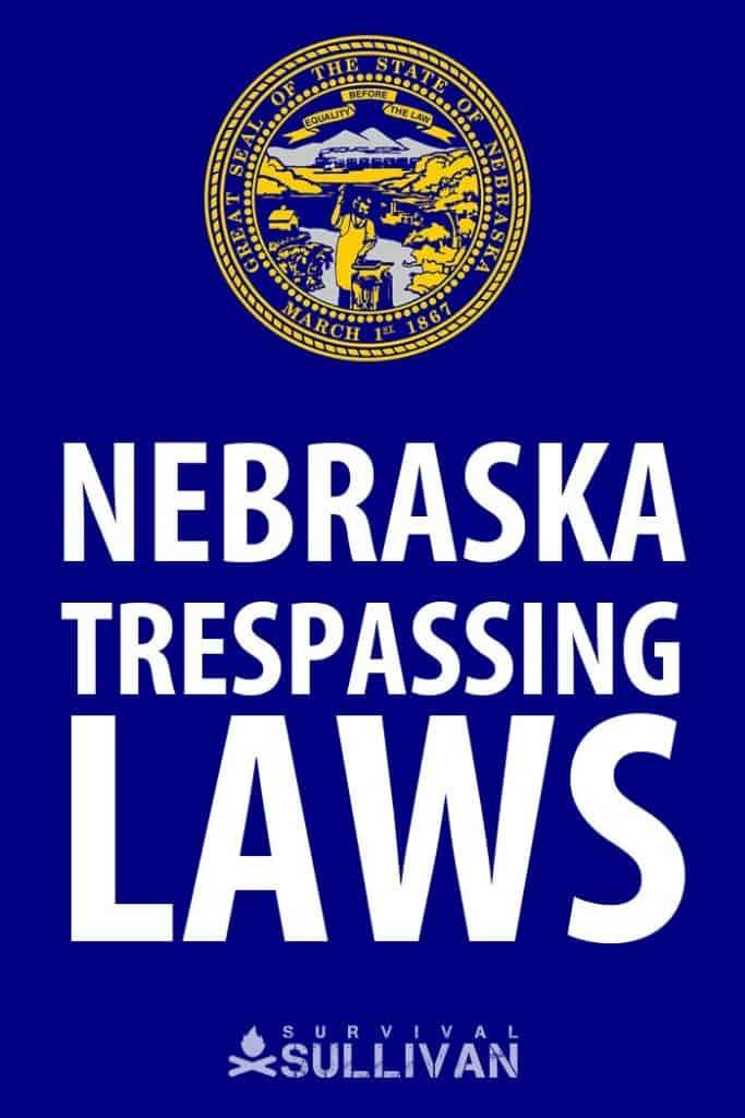 Nebraska trespassing Pinterest image
