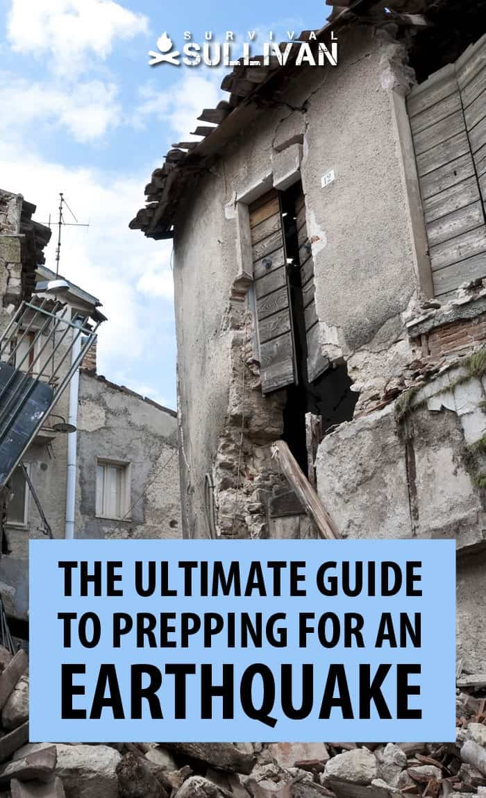 prepping for earthquakes Pinterest image