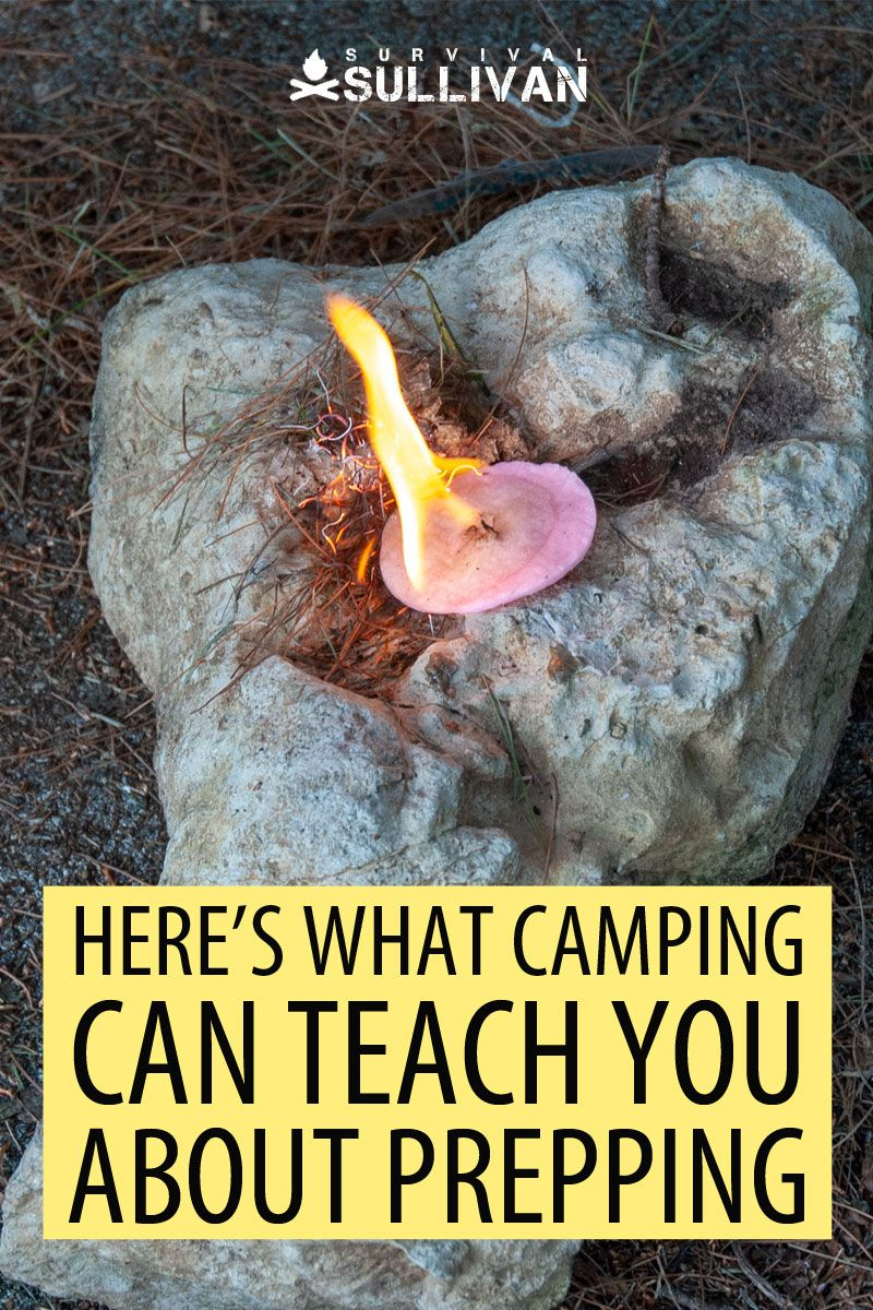 camping and survival Pinterest image
