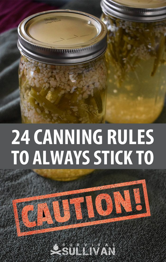 canning rules pinterest