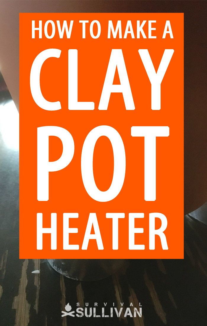 DIY clay pot heater pinterest image