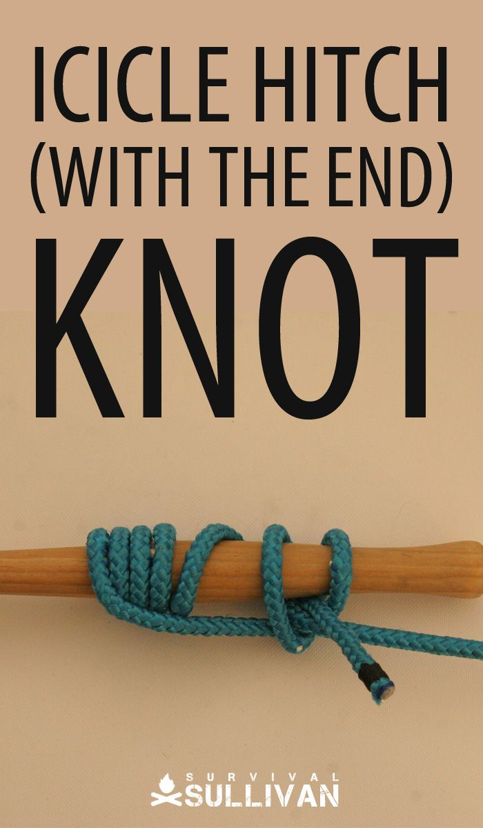 icicle hitch with the end knot Pinterest