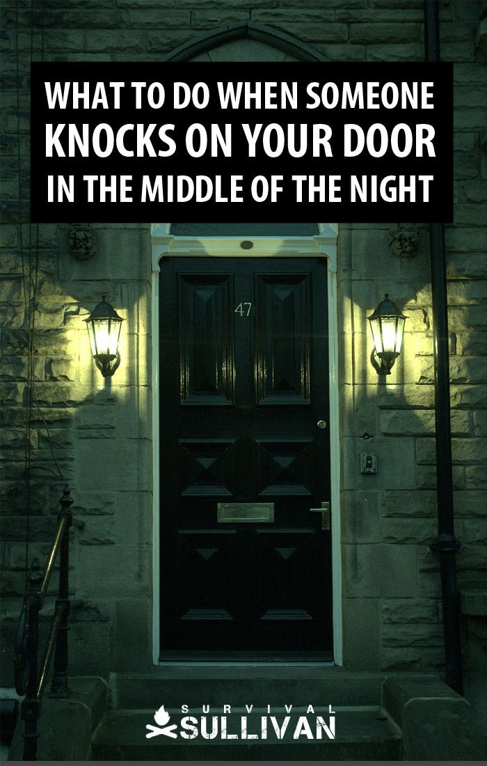 midnight door knock Pinterest image