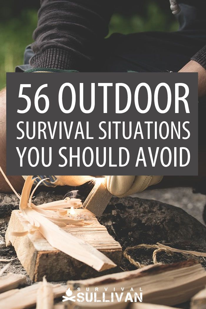 outdoor survival situations Pinterest