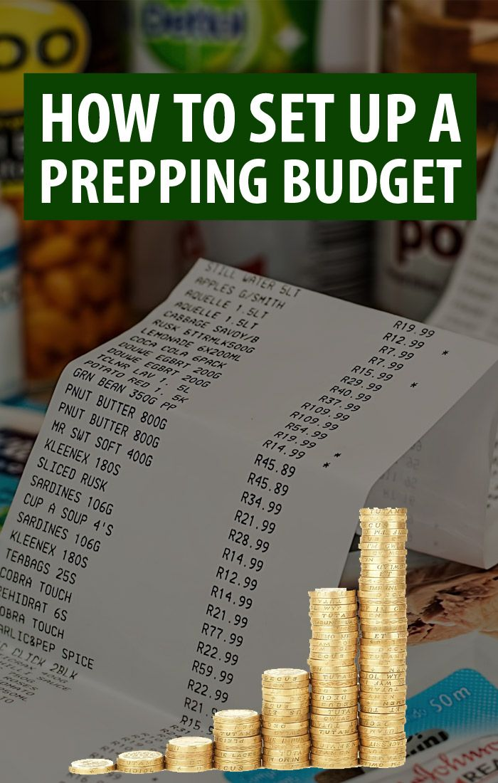 prepping budget pinterest image