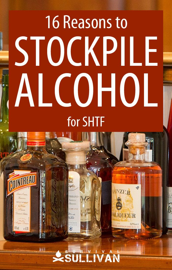 stockpiling alcohol Pinterest image