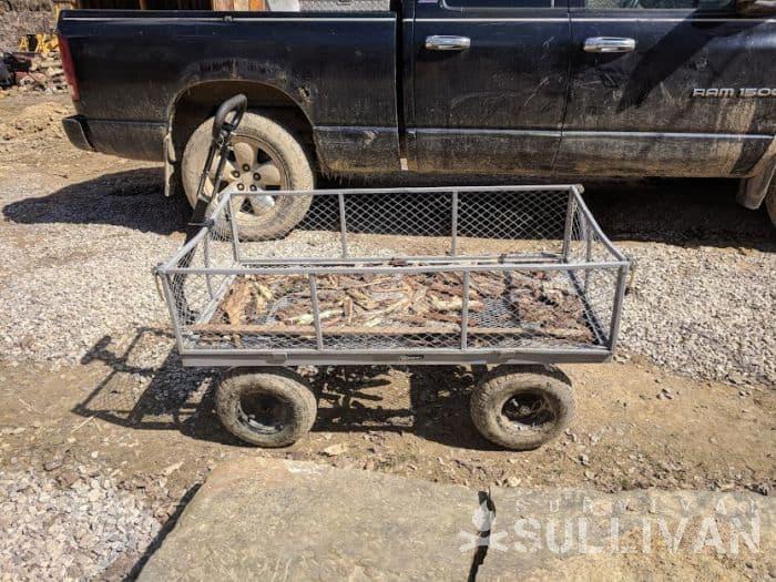 small rustic trailer