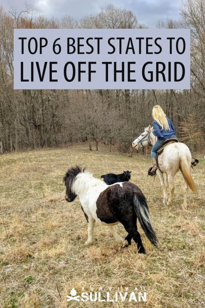 best off grid states Pinterest image