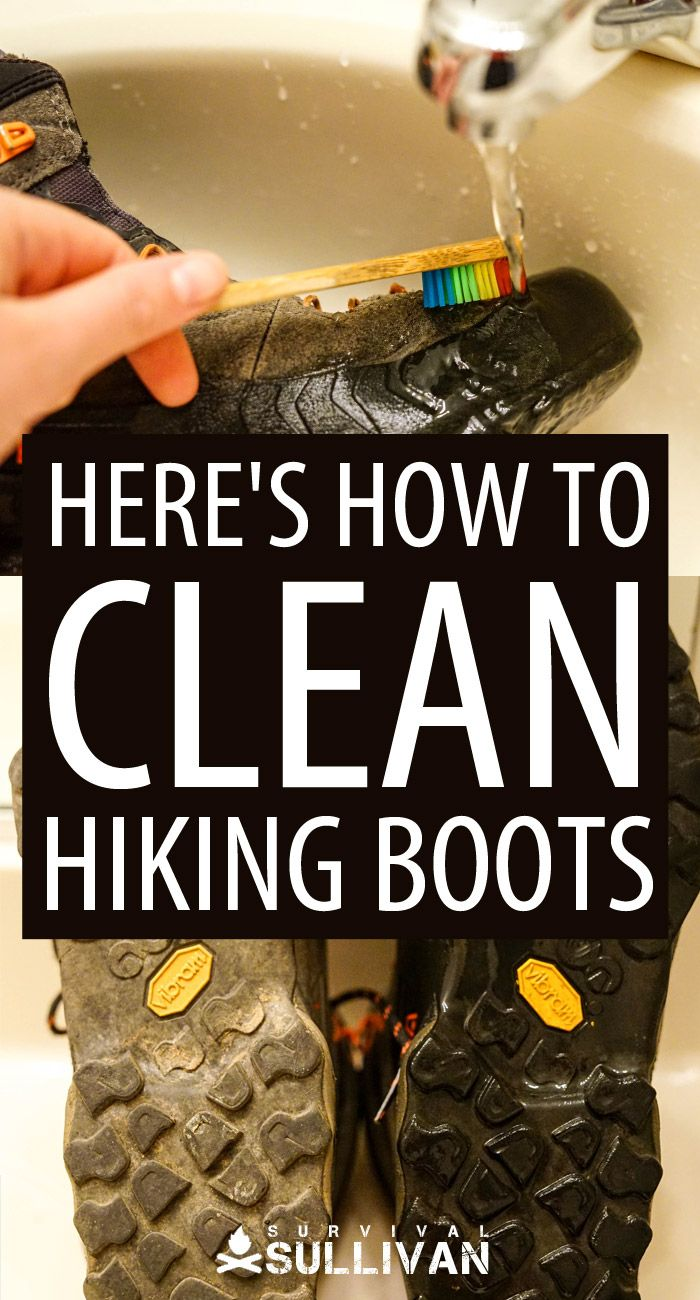 cleaning hiking boots Pinterest image