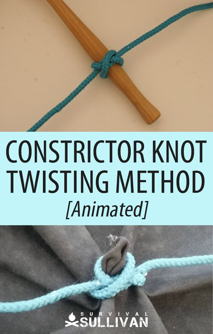 constrictor knot twisting method Pinterest image