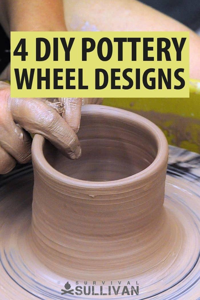 DIY pottery wheels Pinterest image