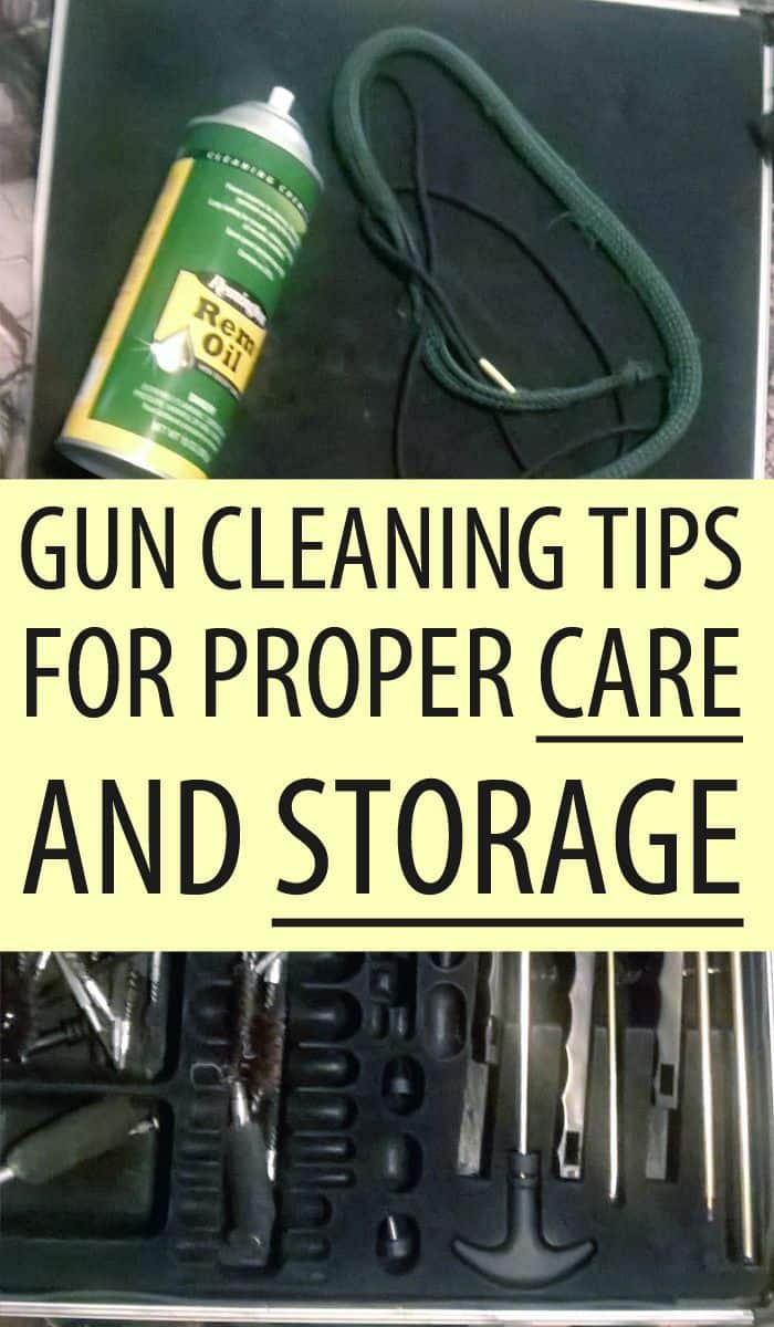 gun cleaning tips Pinterest image