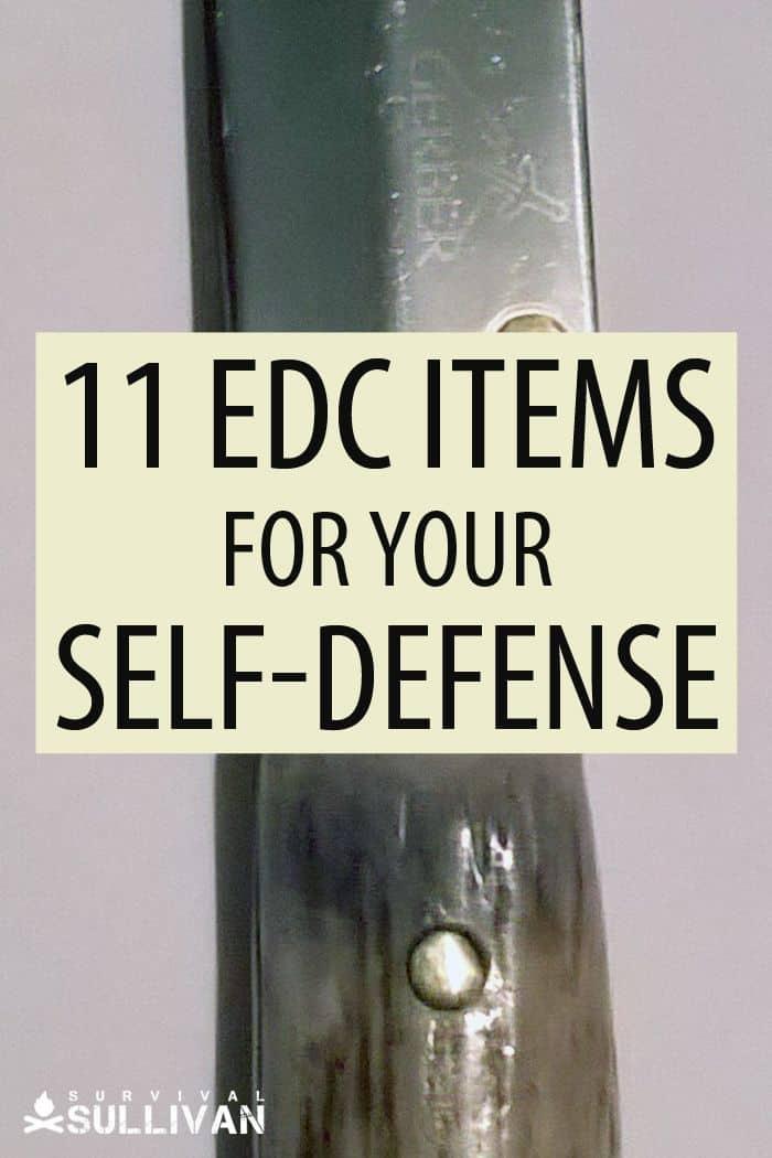 self defense EDC items Pinterest image